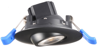 adjustable gimbal led recessed lighting black 2 3 4 inches 5